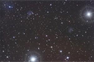 Nebulose attorno ad Alnilam e Mintaka