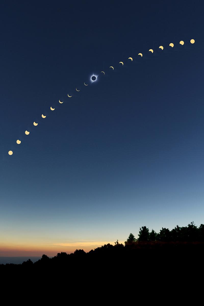 Sequenza eclissi 21 Agosto 2017