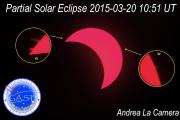 Eclisse parziale di Sole in Halpha