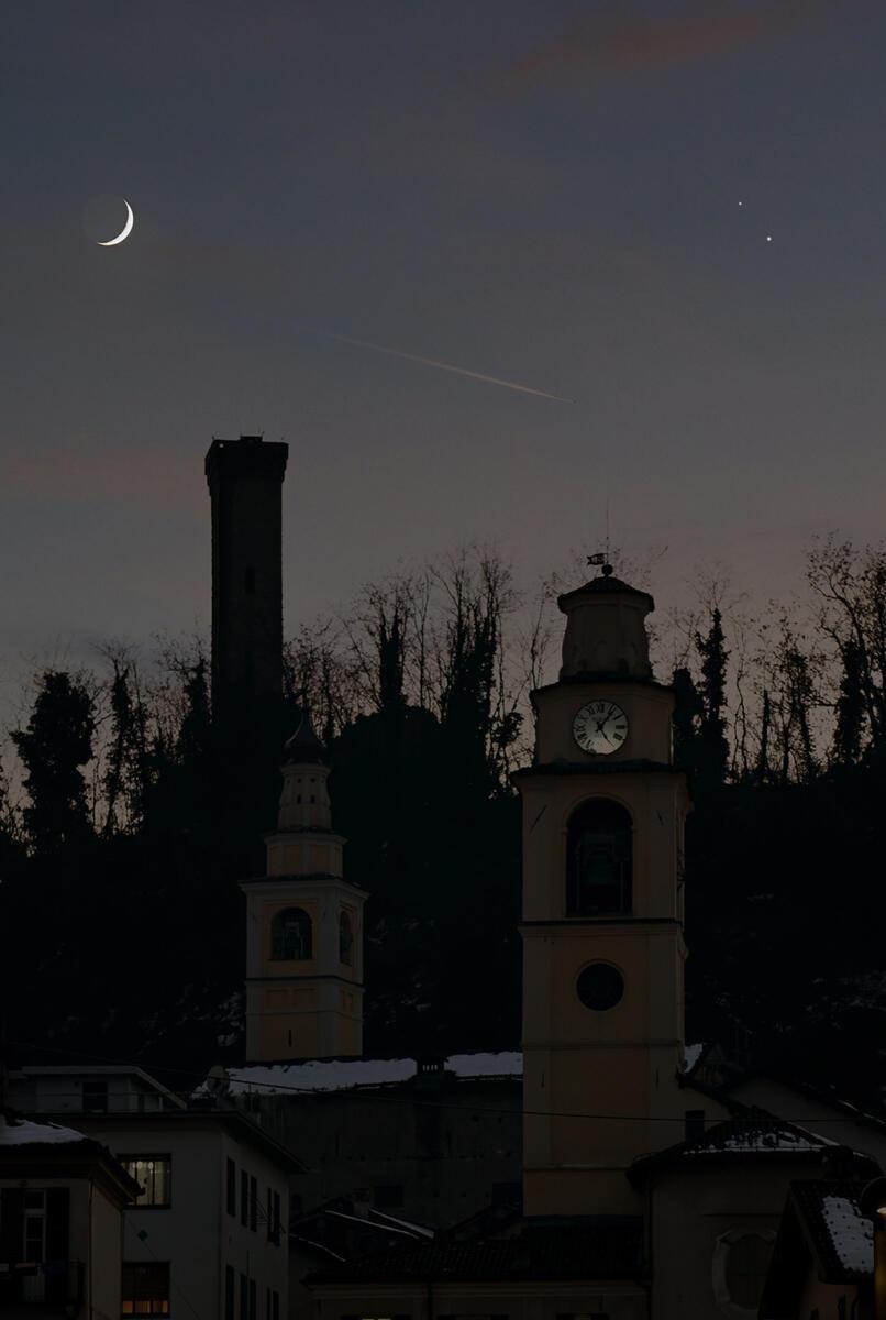 Congiunzione Luna, Saturno e Giove